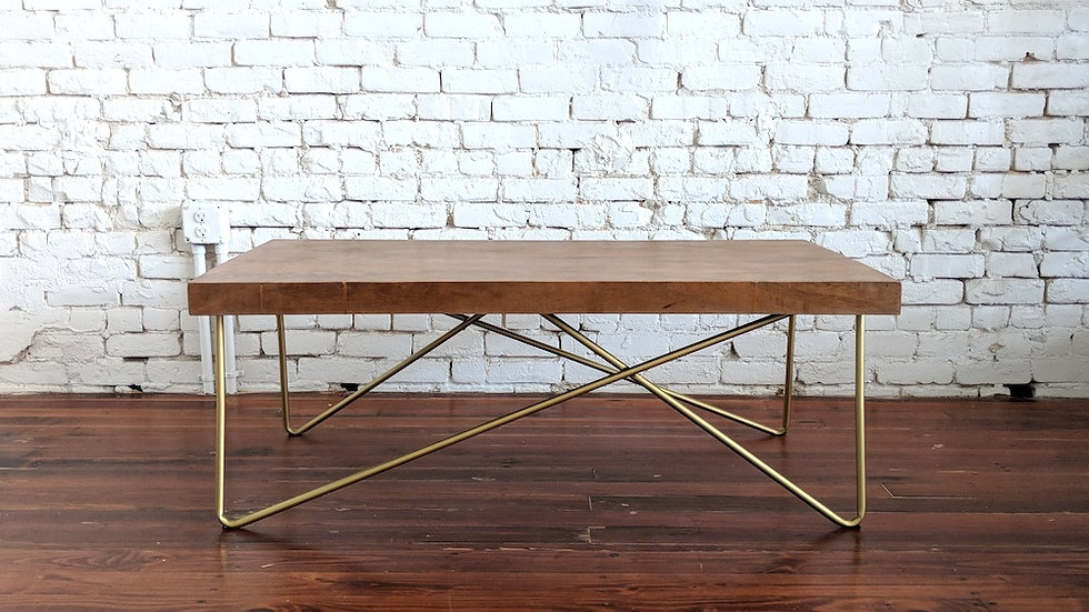 BUTCHER BLOCK COFFEE TABLE | Now available at Birch and Brass