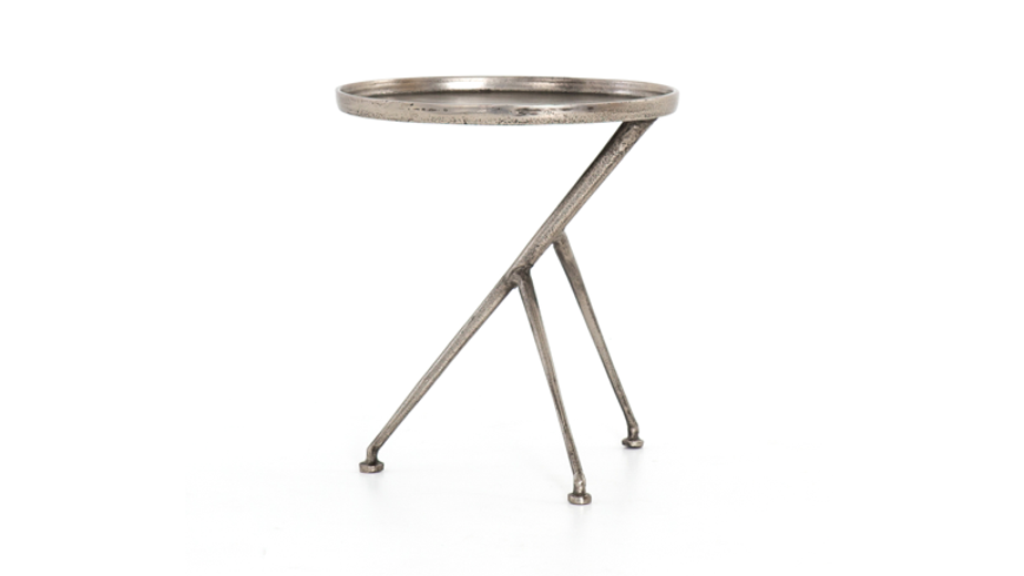 KEAGAN ACCENT TABLE -NICKEL | Now available at Birch and Brass