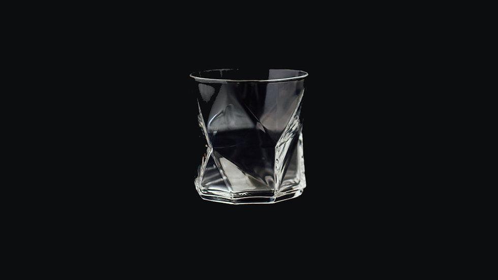 GEO ROCKS GLASS | CLEAR + SMOKE