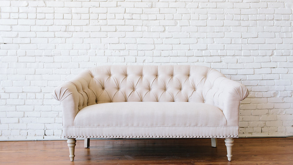CHARLOTTE LOVESEAT | Now available at Birch and Brass