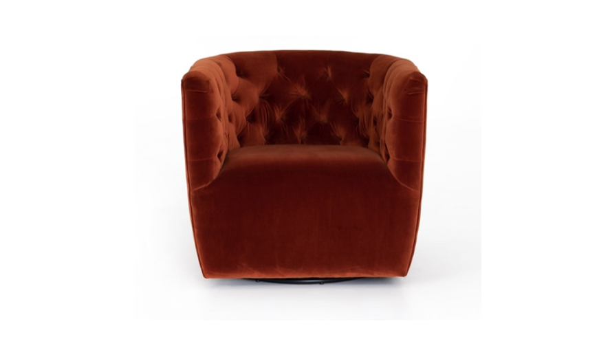 HOLLIS TUFTED SWIVEL CHAIR | Now available at Birch and Brass