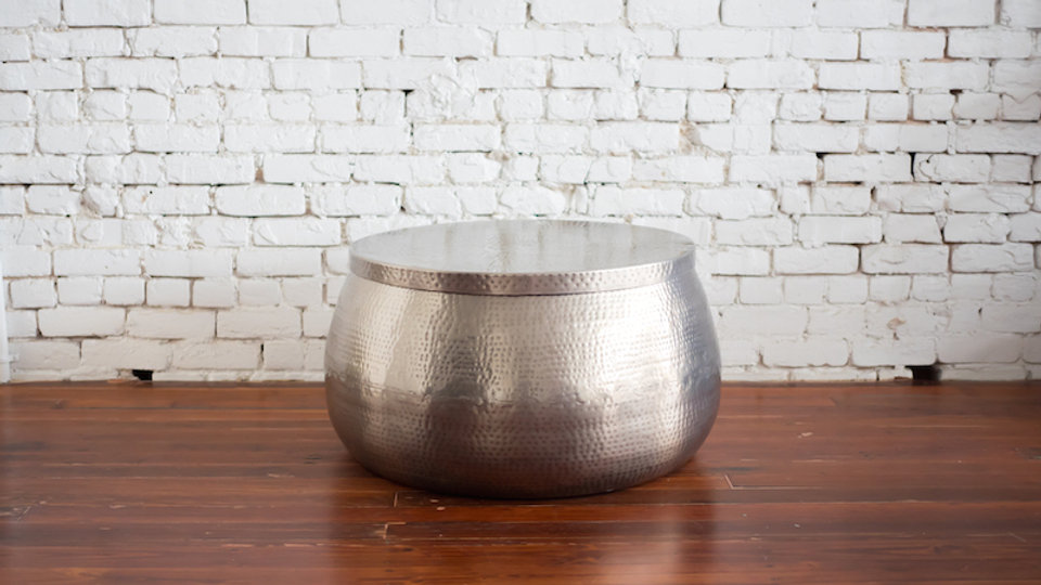 HAMMERED METAL COFFEE TABLE | Now available at Birch and Brass