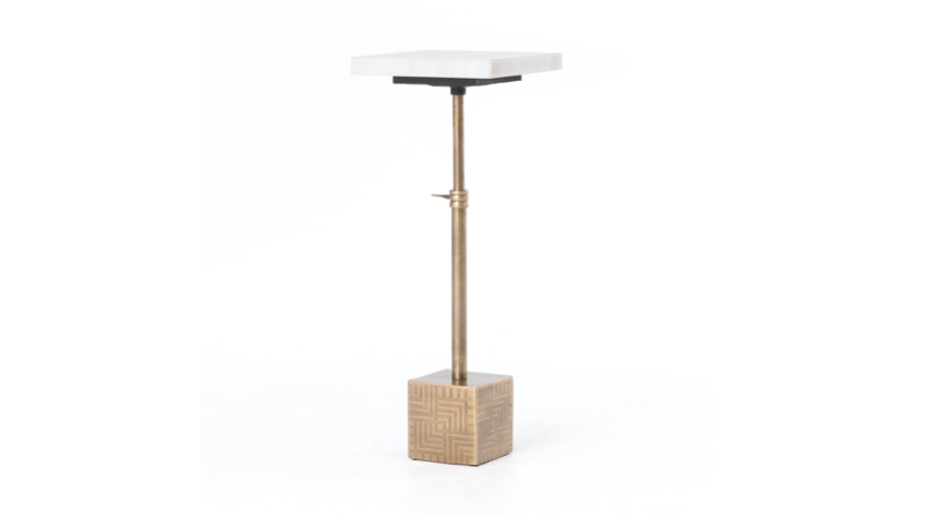 LUCY ADJUSTABLE ACCENT TABLE | Now available at Birch and Brass