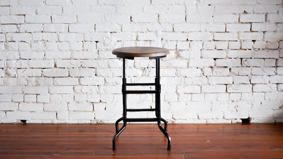FACTORY COUNTER STOOL | Now available at Birch and Brass