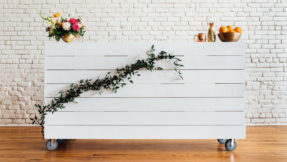 SHIPLAP MOBILE BAR | Now available at Birch and Brass