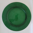 Green Glass Charger