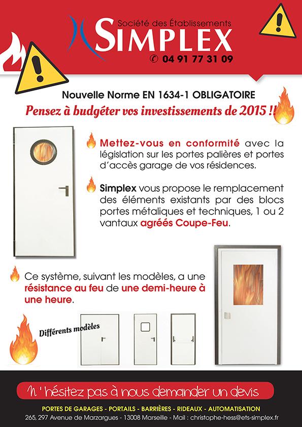 Porte Coupe-Feu / Nouvelle Norme Pour 2015 | Simplex