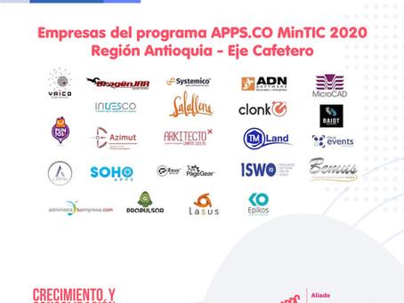 Culmina con éxito el acompañamiento de APPS.CO Región Antioquia – Eje Cafetero