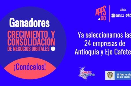MinTIC seleccionó 24 empresas de base digital para ser aceleradas en Antioquia y Eje Cafetero