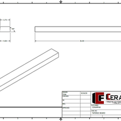 Tapered Board Drawing