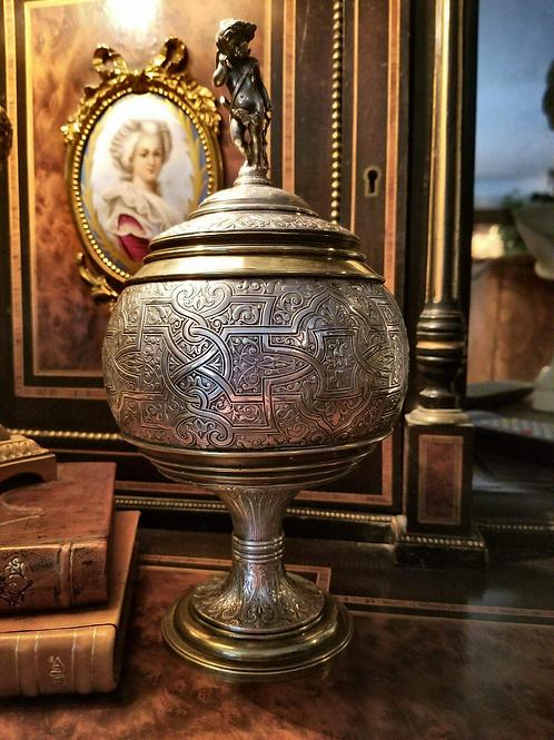 Victorian Silverplate Urn