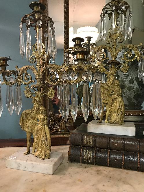 Victorian Brass Girandoles