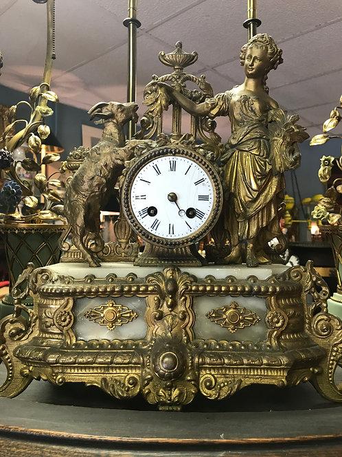Guilt Spelter French Clock