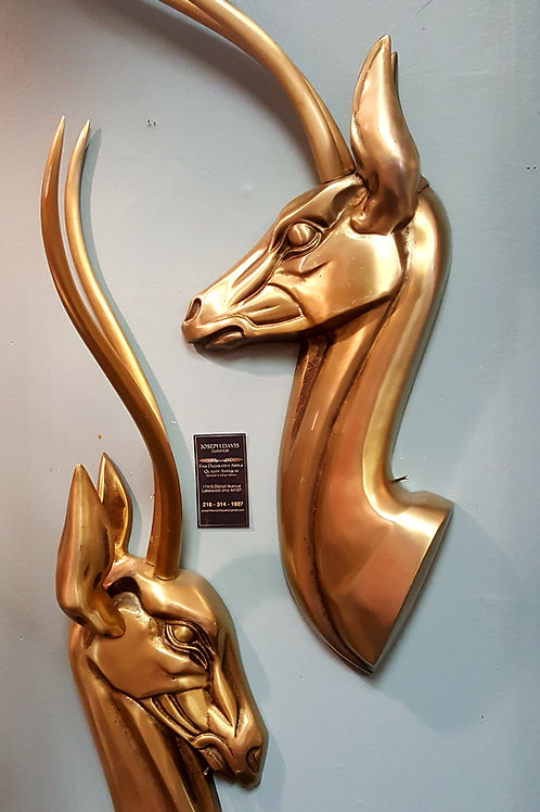 California Aluminum Antelope Wall Sculptures