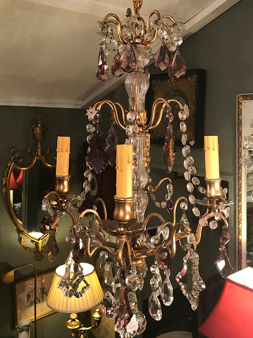 French Bronze Baccarat Chandelier
