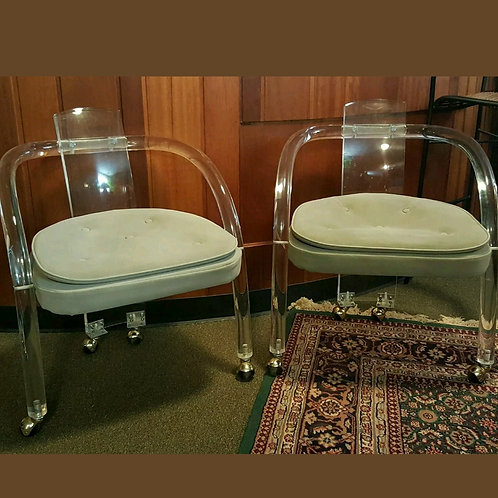Vintage Lucite Club Chairs