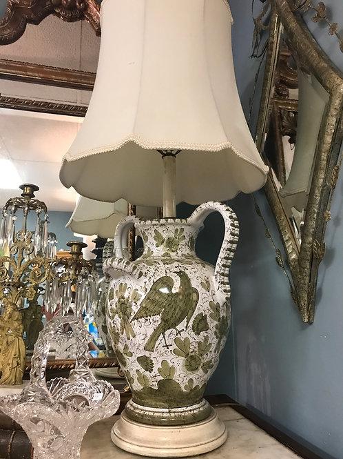 Italian Faience Lamp