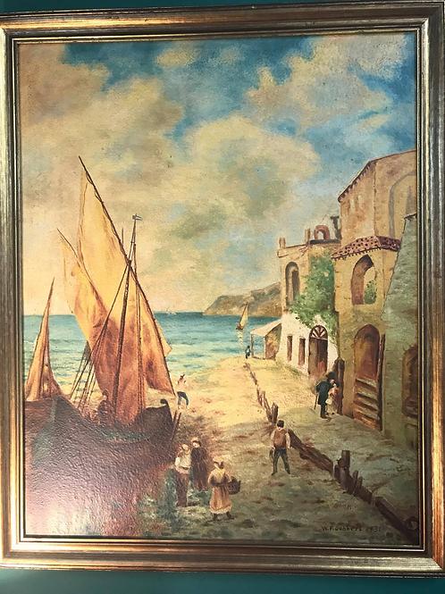 Venice Seascape Oil Painting