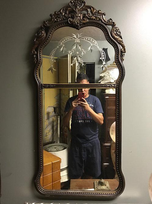1920's Etch Glass Mirror