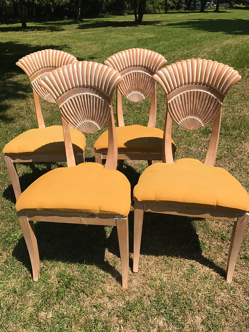 Italian Carved Shellback Chairs