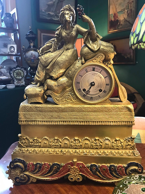 French Guilt Bronze Clock