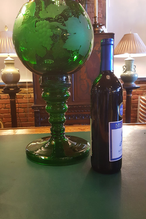 Bohemian Wine Glass Store Display Size