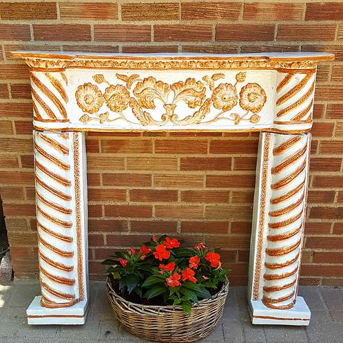 Italian Majolica Fireplace Mantel