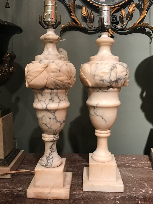 1920's Marble Lamps