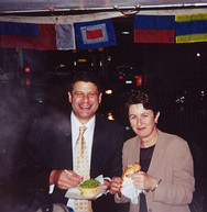 Victorian Premier Steve Bracks and Terry Sydnel Olipics - 2000