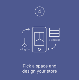 Pick a space and design your store