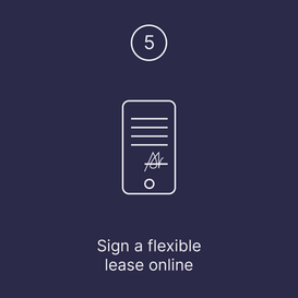 Sign a flexible lease online