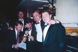 The Sharks Rothmans medal winner Barry Russell celebrates at Harry's