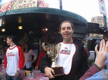 Rob Cregan, winner of the Virgin Mobile/Harry's Pie eating contest - July 2008