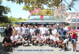 NSW Waratahs 2013 Team at Harry's