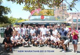 NSW Waratahs 2013 Team at Harry's