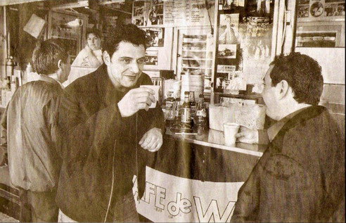 Vince Colosimo and Filmaker Marc Gracie, Wooloomooloo - August 2003