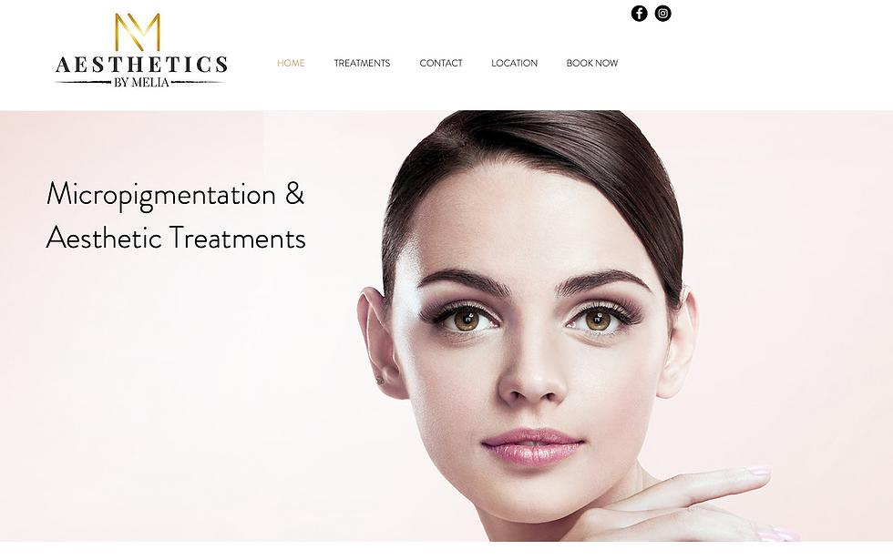 Aesthetics by Melia Website