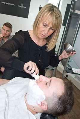Cut throat shaving