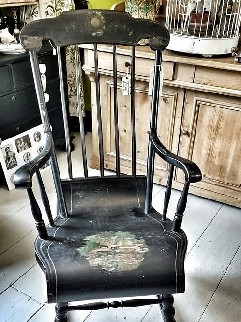 Mid 1800's Swedish Painted Rocking Chair