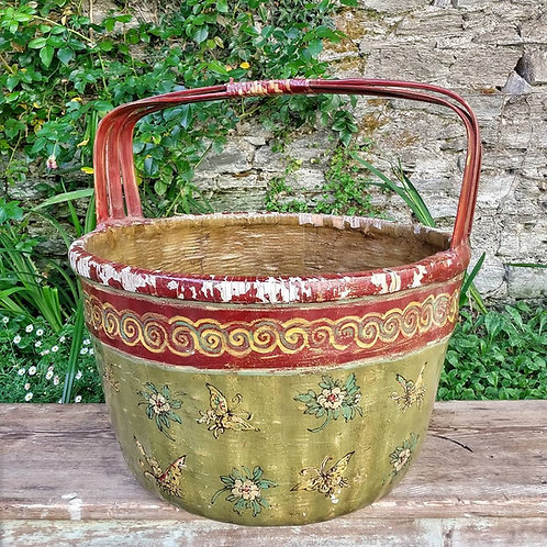 Old Lacquered Chinese Wedding Basket