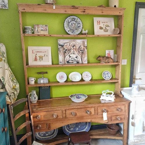 Victorian Pine Open Racked Dresser