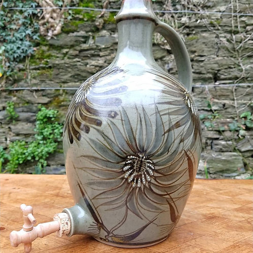 Large Studio Pottery Cider Flagon