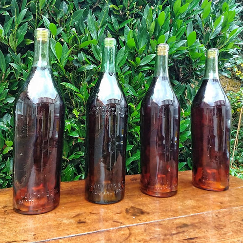 Large Vintage Cognac Display Bottles
