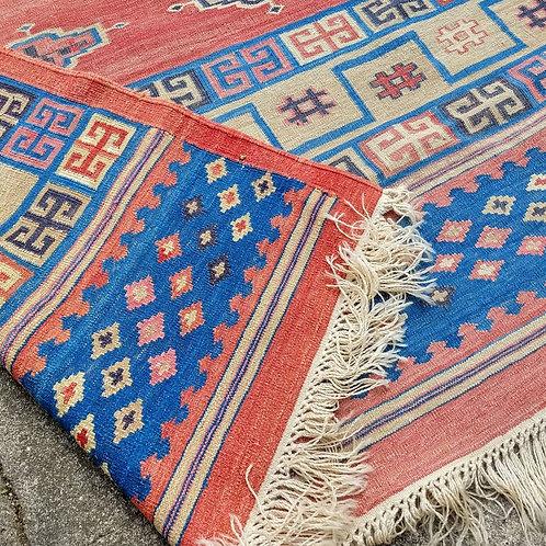 Giant Vintage Kilim Carpet Rug.
