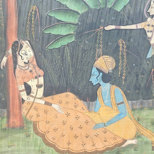 Mid 1900's Indian Paintings on Silk