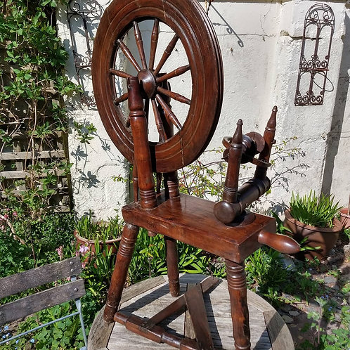 19th C Irish Spinning Wheel