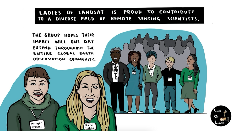 Still frame from our recently launched Ladies of Landsat series highlighting users of Landsat data with the USGS Human Dimensions team. Video available here: https://www.usgs.gov/media/videos/earth-observation-user-case-study-ladies-landsat
