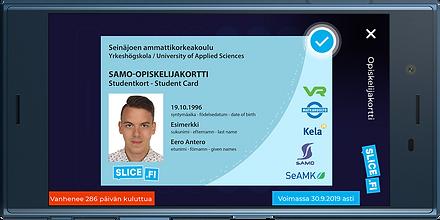 Mobiiliopiskelijakortti Slice