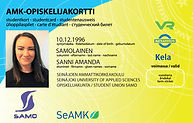 SAMOn AMK-opiskelijakortti