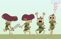 Mushroom Warrior Poses